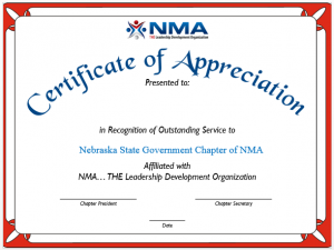 Awards merchandise for purchase nma certificate of appreciation yadclub Image collections