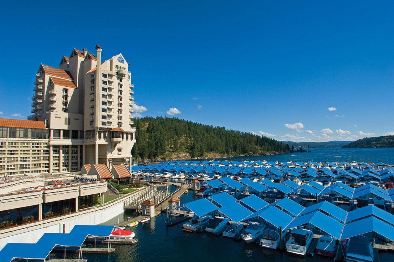 The beautiful Coeur D'Alene Resort in Coeur d'Alene, Idaho